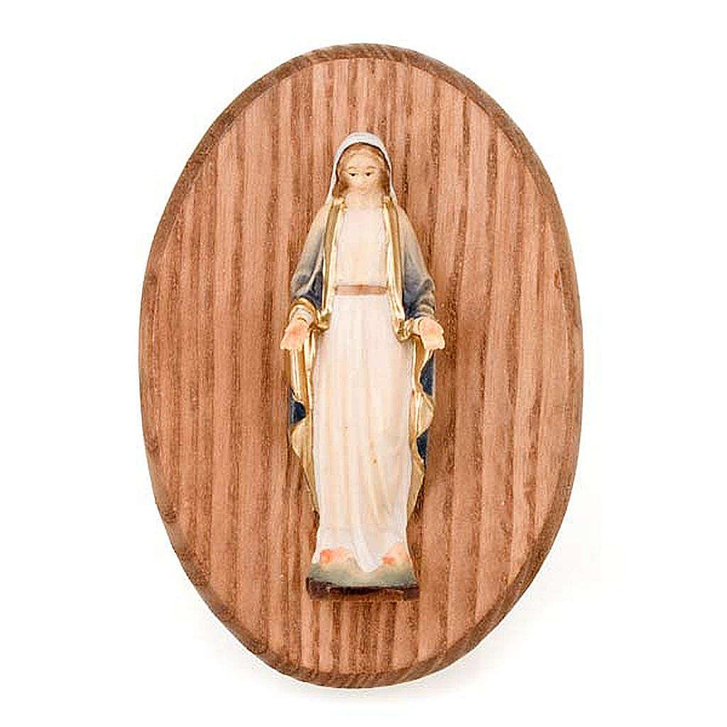 Cuadro con estatua Virgen Milagrosa 4