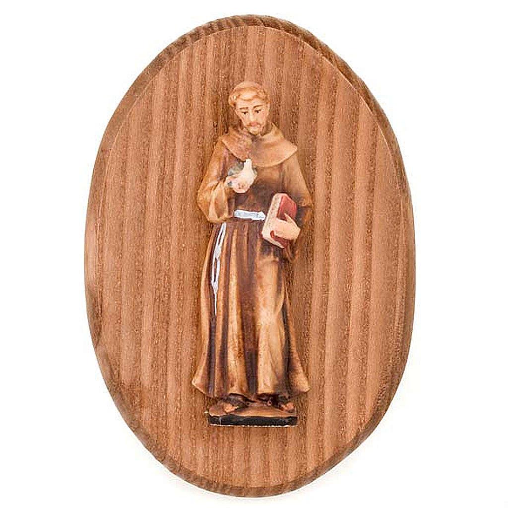 Plaque avec statue de S.François d'Assisi 4