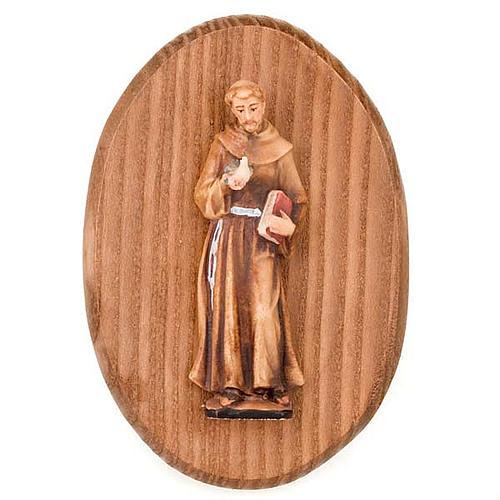 Plaque avec statue de S.François d'Assisi 1