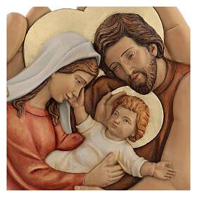 Sagrada Família nas mãos madeira de lenga e tintas de óleo 40x40x5 cm Mato Grosso s2