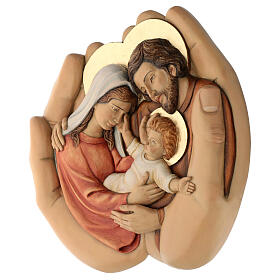 Sagrada Família nas mãos madeira de lenga e tintas de óleo 40x40x5 cm Mato Grosso s4