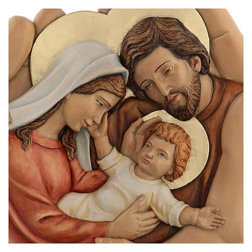 Sagrada Família nas mãos madeira de lenga e tintas de óleo 40x40x5 cm Mato Grosso 2