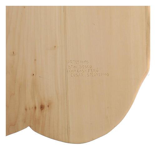 Sagrada Família nas mãos madeira de lenga e tintas de óleo 40x40x5 cm Mato Grosso 5