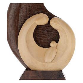 Baixo-relevo Natividade em madeira de tília e nogueira 30x20x5 cm Mato Grosso s2