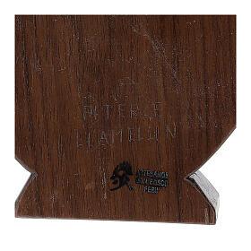 Baixo-relevo Natividade em madeira de tília e nogueira 30x20x5 cm Mato Grosso s5