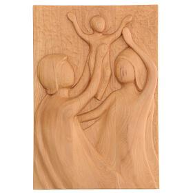 Sacra Famiglia legno lenga scolpito a mano 30x20x5 cm Mato Grosso s1
