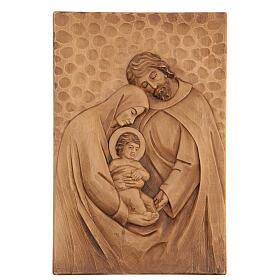 Baixo-relevo Sagrada Família madeira 30x20x5 cm Mato Grosso s1