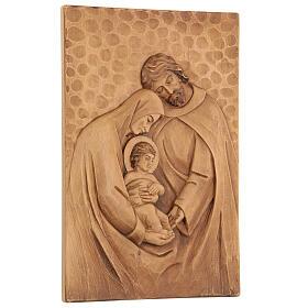 Baixo-relevo Sagrada Família madeira 30x20x5 cm Mato Grosso s3