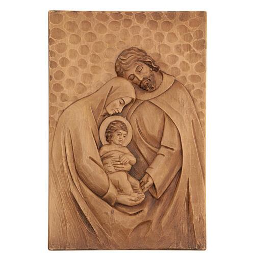 Baixo-relevo Sagrada Família madeira 30x20x5 cm Mato Grosso 1