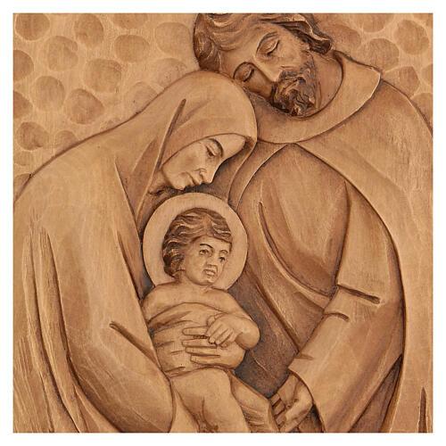 Baixo-relevo Sagrada Família madeira 30x20x5 cm Mato Grosso 2