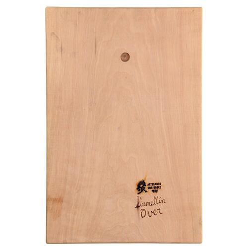 Baixo-relevo Sagrada Família madeira 30x20x5 cm Mato Grosso 5