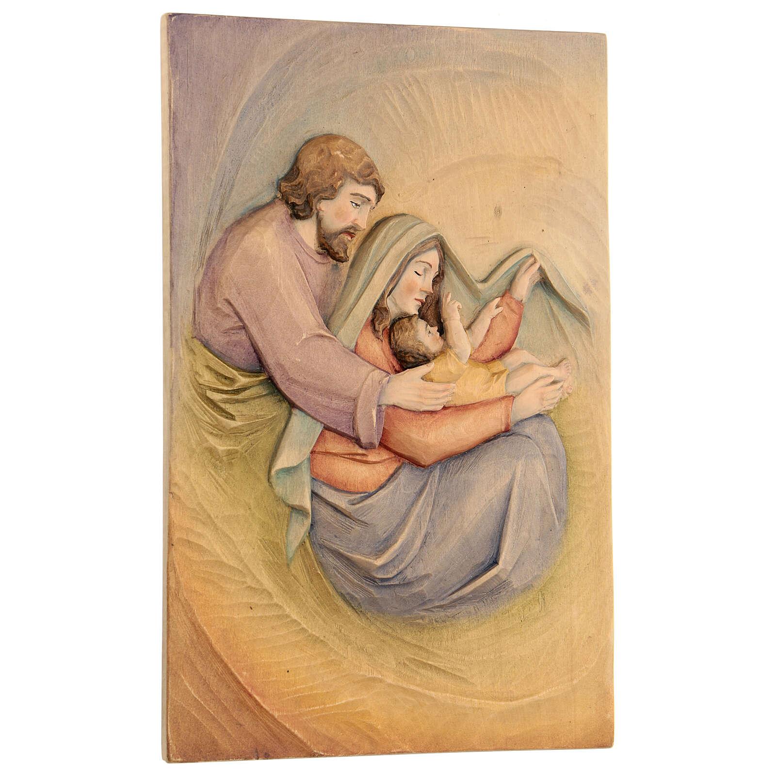Sacra Famiglia in Lenga e colori a olio 30x20x5 cm Mato Grosso 4