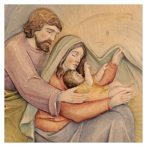 Sacra Famiglia in Lenga e colori a olio 30x20x5 cm Mato Grosso 2