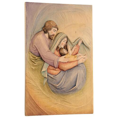 Sacra Famiglia in Lenga e colori a olio 30x20x5 cm Mato Grosso 3
