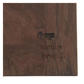 Baixo-relevo Sagrada Família em lenga e nogueira 30x20x5 cm Mato Grosso s4