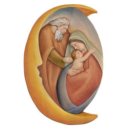 Sacra Famiglia in legno dipinto con colori a olio 30x20x5 cm Mato Grosso 1