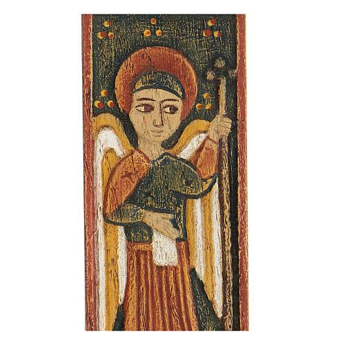 Bas-relief Archange Gabriel Bethléem 12x5 cm