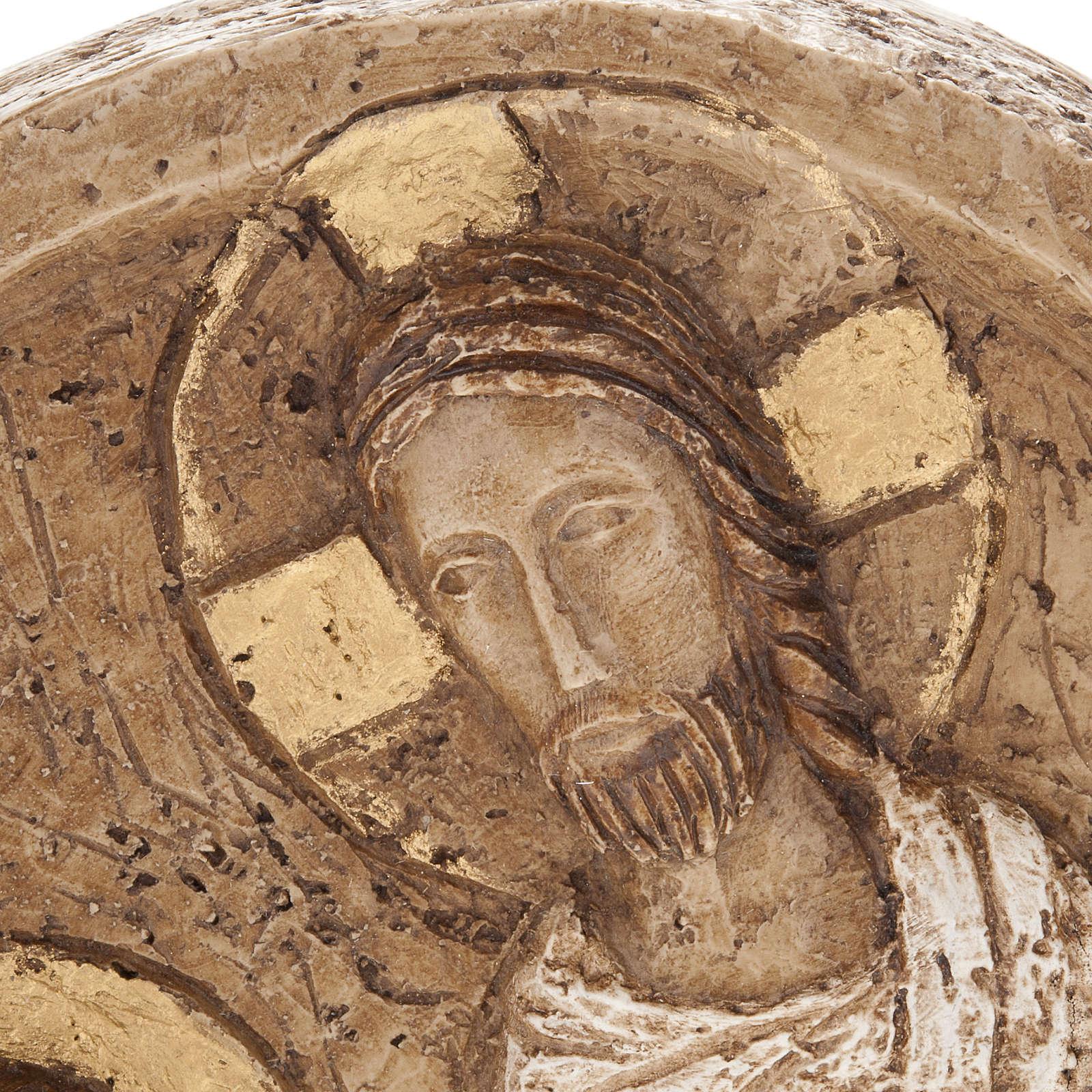 Resurrection bas relief in stone, Bethlehem monastery 4