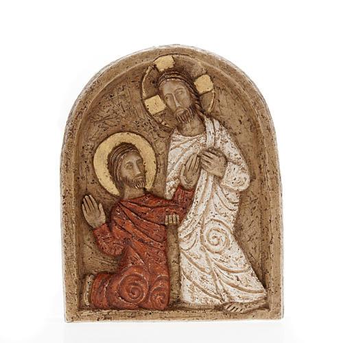 Resurrection bas relief in stone, Bethlehem monastery 1