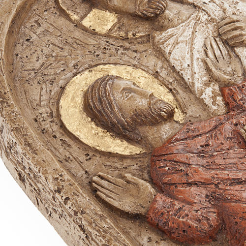 Resurrection bas relief in stone, Bethlehem monastery 3