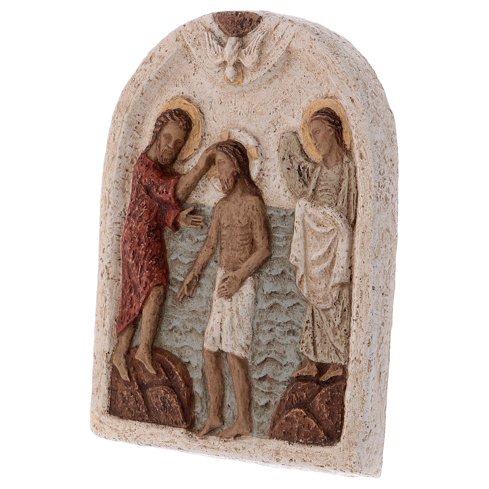 Flachrelief Stein Taufe Christi Bethlehem 4