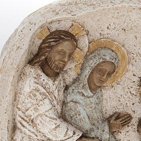 Flachrelief aus Pyrenäen-Stein Die Hochzeit zu Kana hergestellt im Kloster Bethléem s2