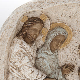 Bas relief with the wedding in Cana, stone, Bethleem Monastery s2