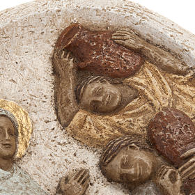 Bas relief with the wedding in Cana, stone, Bethleem Monastery s4