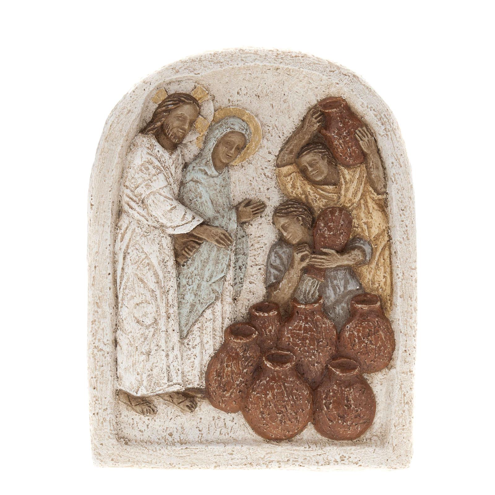 Bajorrelieve de piedra de la boda de Caná Bethléem 4