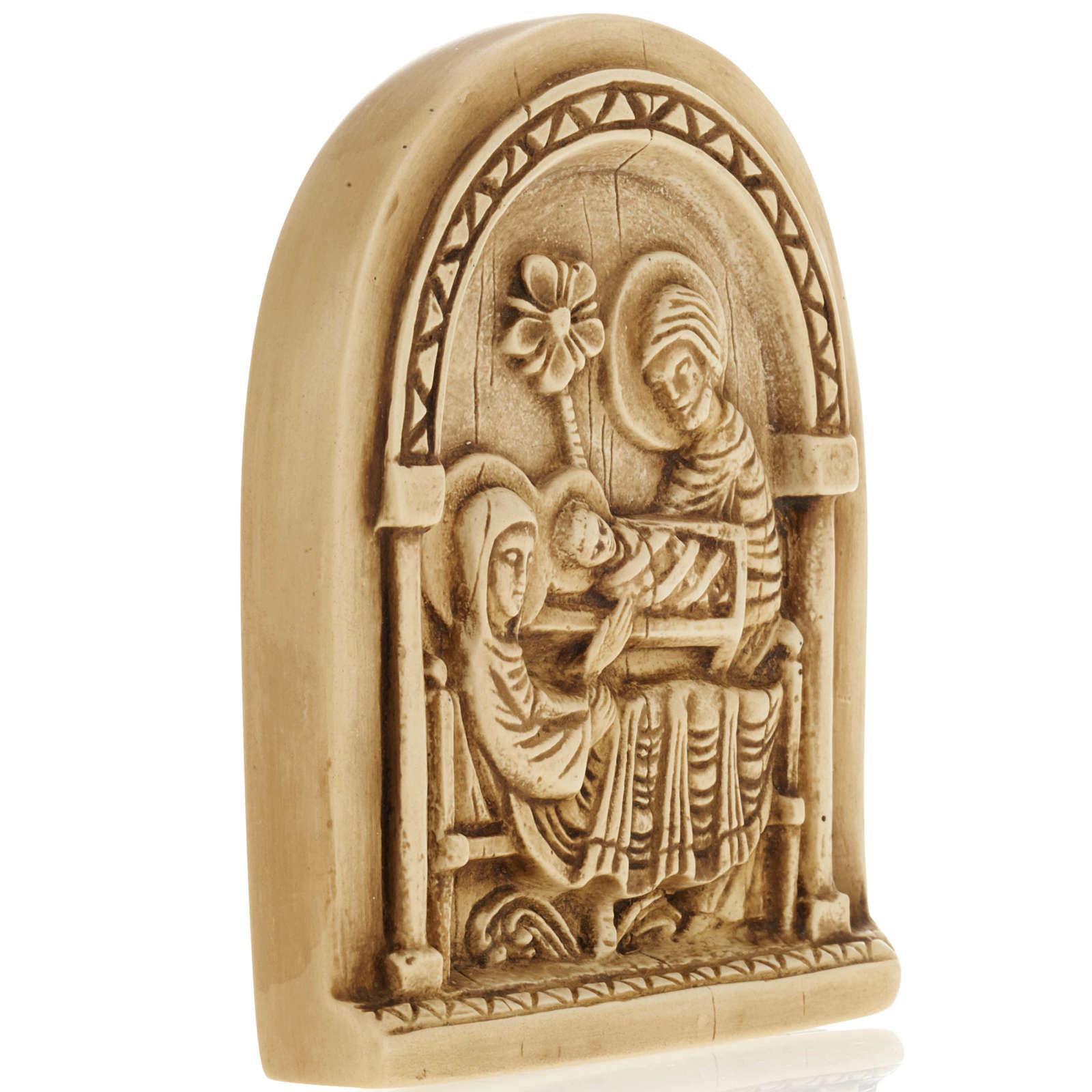 Natividad bajo relieve en piedra de Bethléem 4