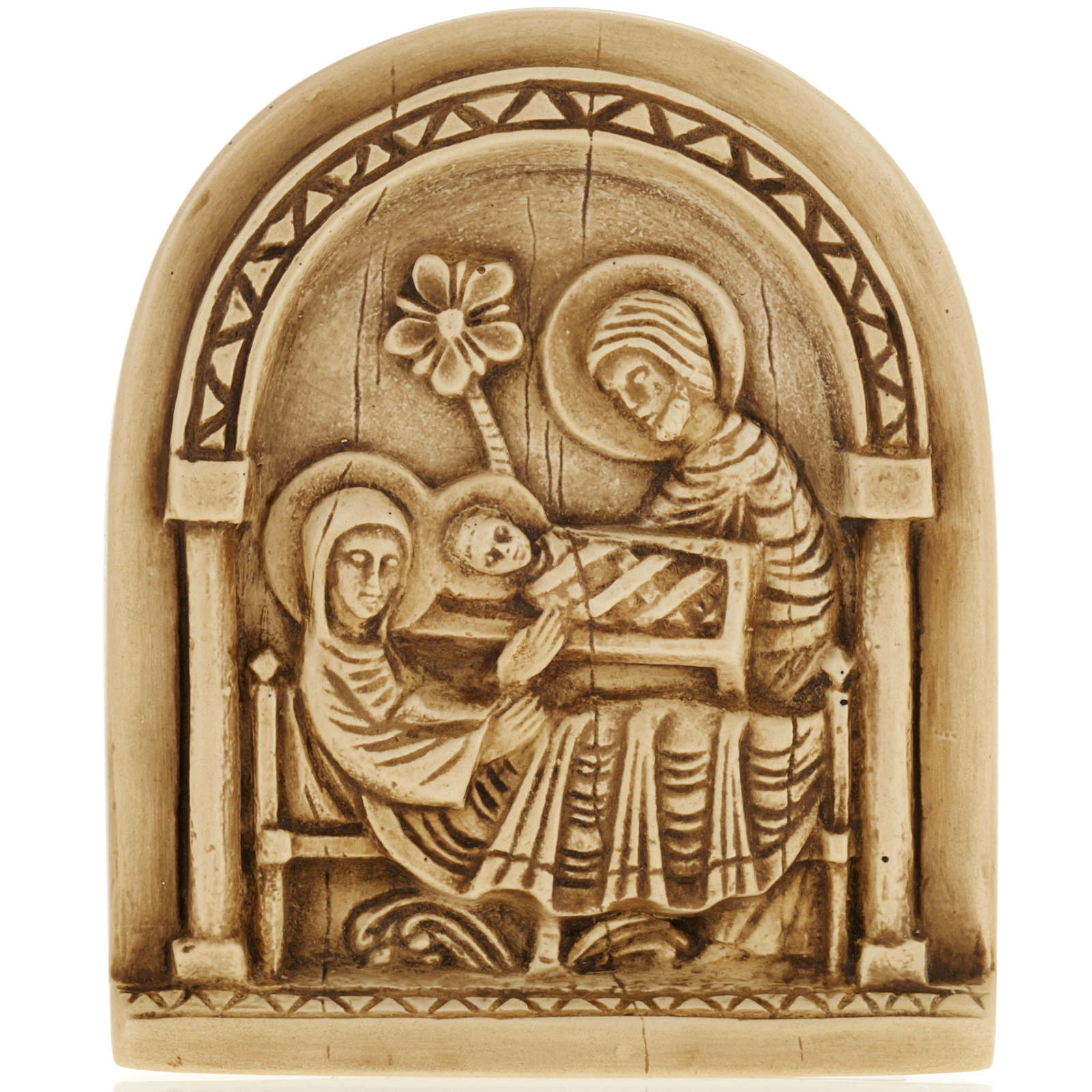 Nativity scene bas relief in stone, Bethlehem monastery 4