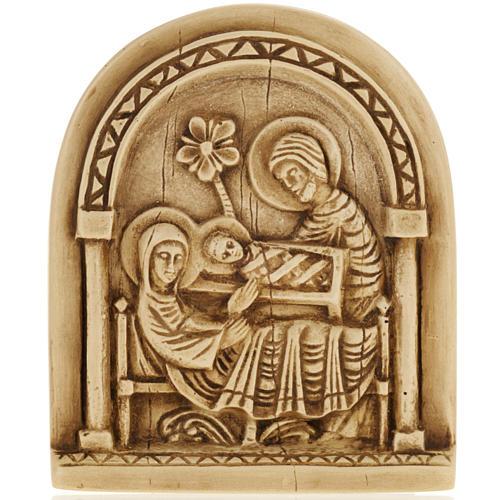 Nativity scene bas relief in stone, Bethlehem monastery 1