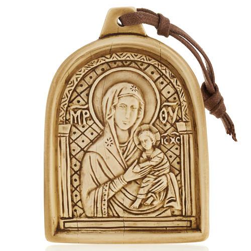 Virgen con el Niño bajorrelieve de piedra para colgar 1