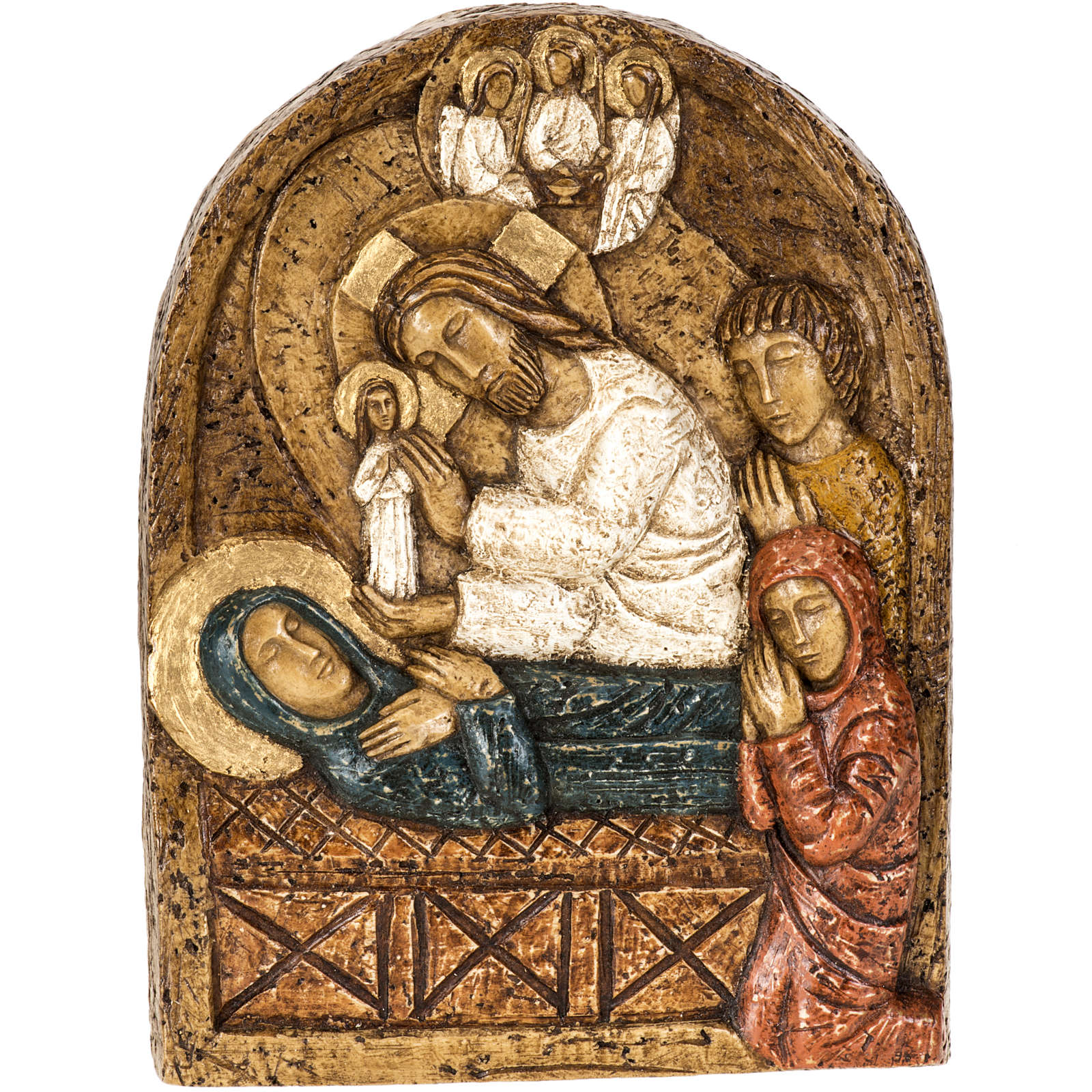 Assunzione bassorilievo pietra Bethléem 4