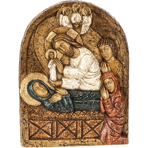 Assunzione bassorilievo pietra Bethléem 1