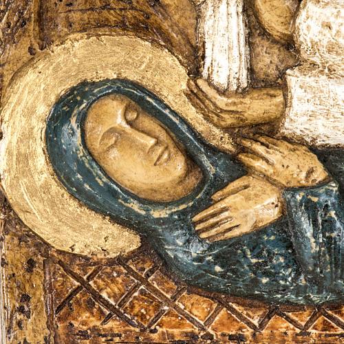 Assunzione bassorilievo pietra Bethléem 3