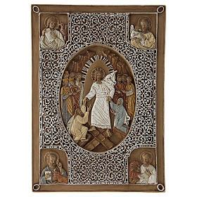 Flachrelief Stein für Evangeliar Auferstehung 33 cm s1