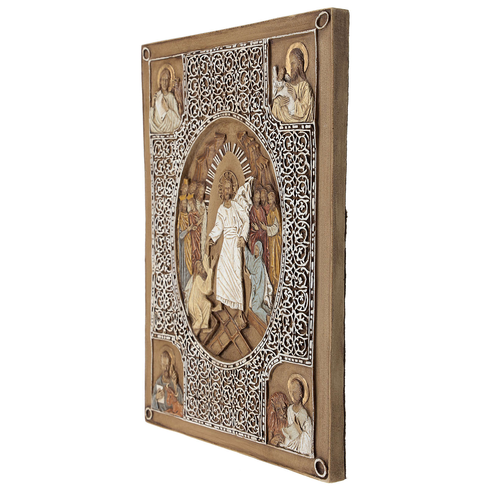 Gospel cover bas-relief, Resurrection, 33cm, stone 4