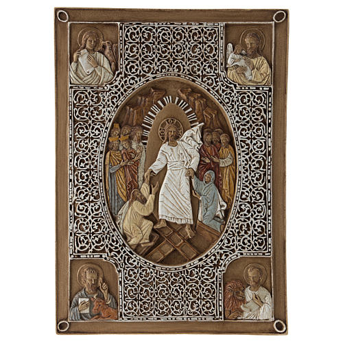 Gospel cover bas-relief, Resurrection, 33cm, stone 1