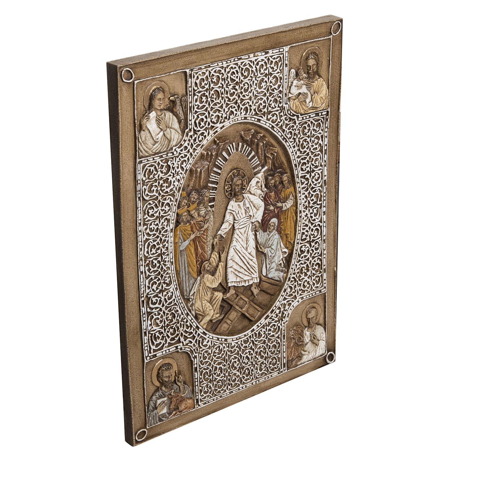 Évangéliaire Résurrection bas relief pierre 4
