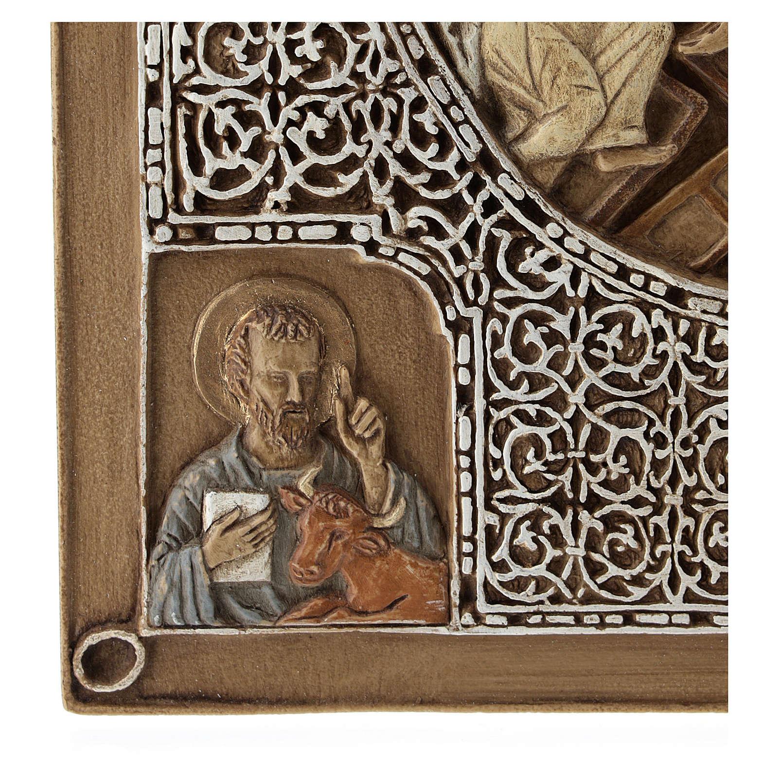 Bassorilievo coprievangeliario Resurrezione 33 cm pietra 4