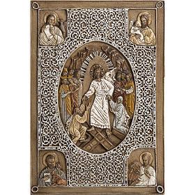 Bassorilievo coprievangeliario Resurrezione 33 cm pietra s1