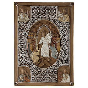 Bassorilievi pietra: Bassorilievo coprievangeliario Resurrezione 33 cm pietra
