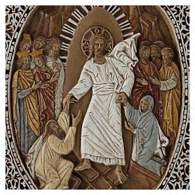 Bassorilievo coprievangeliario Resurrezione 33 cm pietra s2