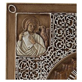 Bassorilievo coprievangeliario Resurrezione 33 cm pietra s3
