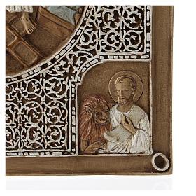 Bassorilievo coprievangeliario Resurrezione 33 cm pietra s5