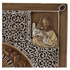 Bassorilievo coprievangeliario Resurrezione 33 cm pietra s6