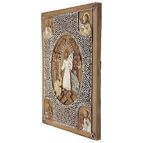Bassorilievo coprievangeliario Resurrezione 33 cm pietra s7