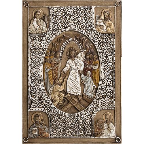Bassorilievo coprievangeliario Resurrezione 33 cm pietra 1