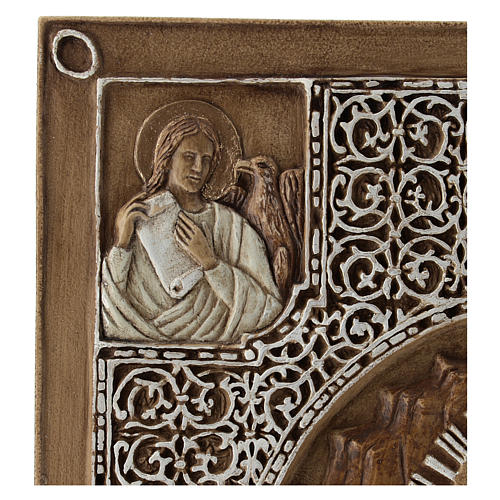 Bassorilievo coprievangeliario Resurrezione 33 cm pietra 3